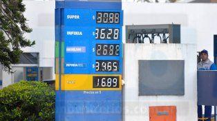 Combustibles. Se registró un nuevo incremento en el mes de julio