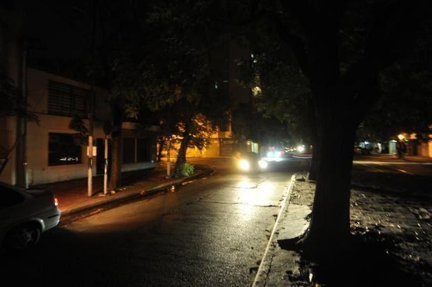 La zona del Parque Urquiza se vio afectada por el corte de luz.