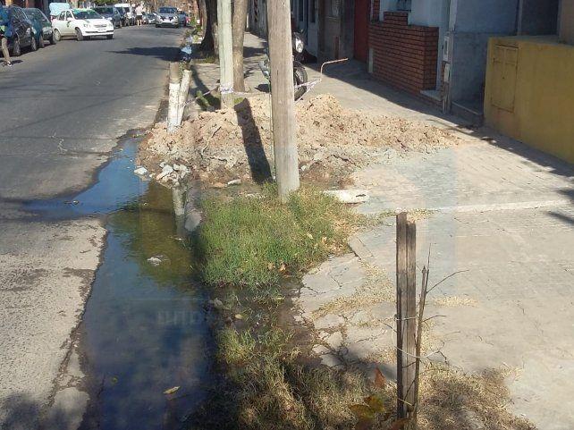Colapsó. Calle Diamante al 270 de Paraná