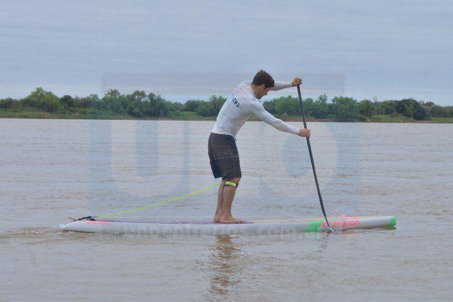 El Paraná es un río ideal para entrenar.