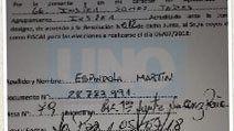 CAPTURA. La lista 66 denunció a Cañete por amenazas a fiscales