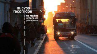 Este domingo comienzan a funcionar los nuevos recorridos de colectivos en Paraná