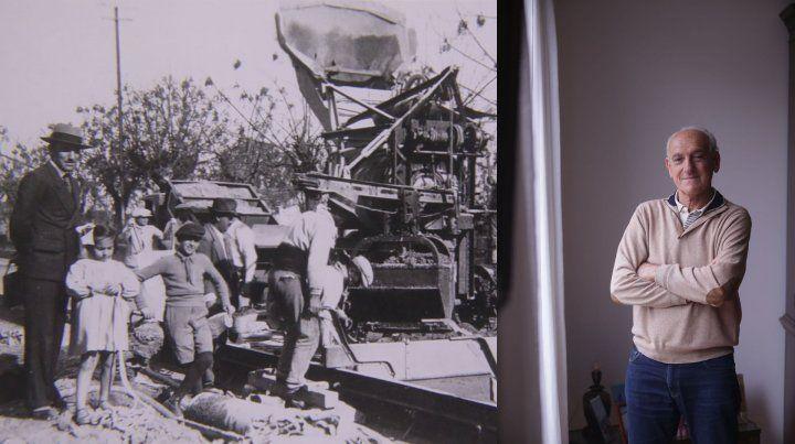 La filmación que muestra cómo se hizo el Parque Urquiza