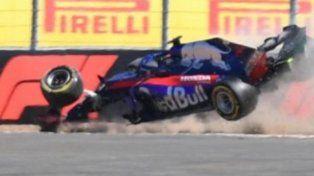 Terrible accidente de Hartley en la Fórmula 1