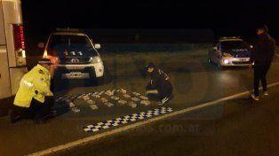Fugado. El dueño de la valija con droga escapó hacia la zona rural aledaña en la ruta 14.