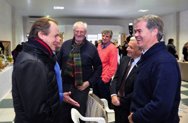 Reunión. Bordet dialoga con Piaggio y Lauritto