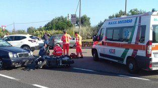 George Clooney resultó herido en accidente de moto en Italia