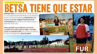 Lanzaron una campaña para ayudar a la crespense Betsabé Páez