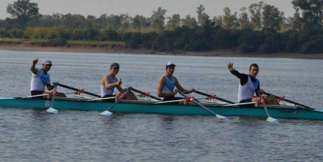Los remeros del Rowing rumbo a Villa Constitución