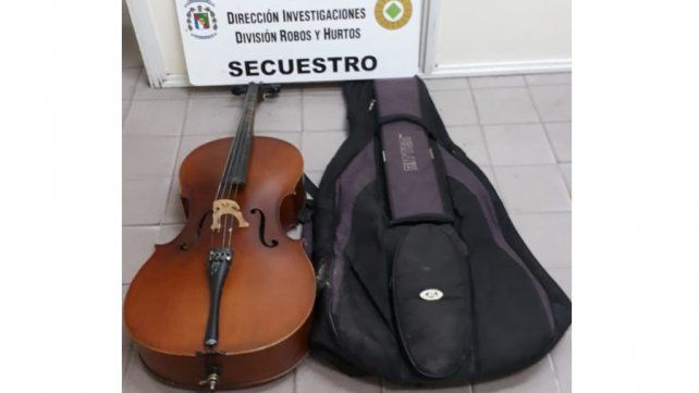 Recuperaron el violoncello de David