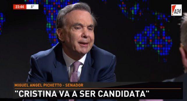 Pichetto considera que Cristina va a ser candidata a Presidenta