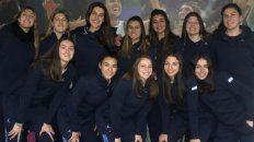 La jugadora de Talleres (segunda arriba a la izquierda) es la representante entrerriana