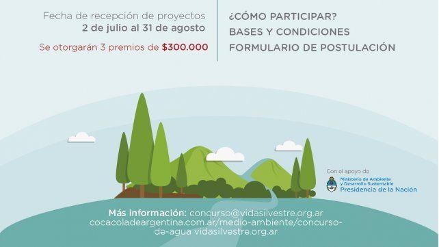 Fundación Vida Silvestre y Coca-Cola de Argentina lanzan la 12° edición del Concurso de Agua
