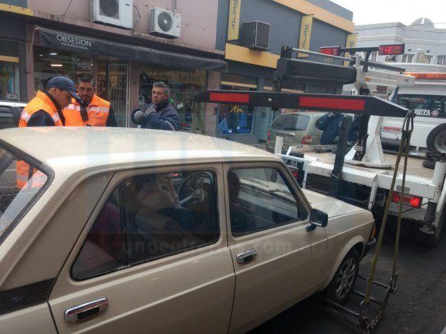 Realizaron un fuerte operativo de tránsito en la zona céntrica de Paraná