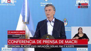 En un tono optimista, Macri dijo que la inflación bajará más de diez puntos en 2019