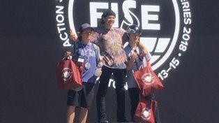 Iñaki Mazza en lo más alto del podio.
