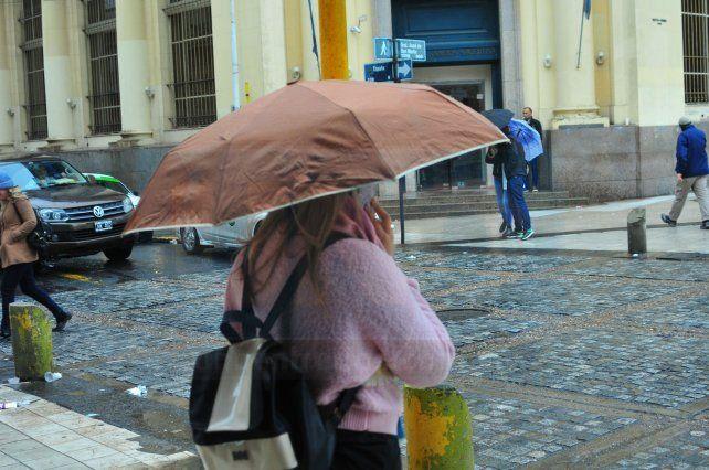 Lluvia y frío en Paraná