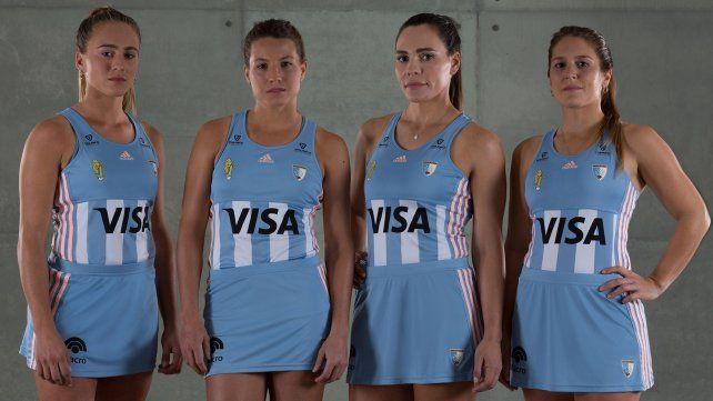 Las Leonas presentaron la ropa para el Mundial
