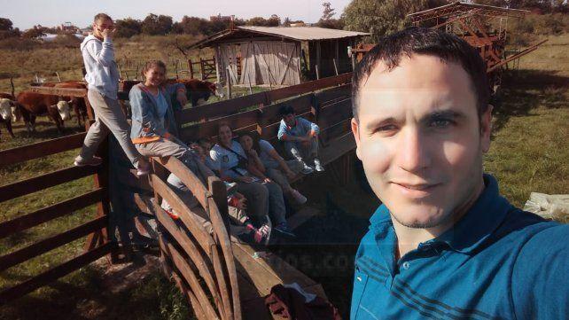 Docente. Alan es profesor del último año en la escuela Agrotécnica de Chajarí.