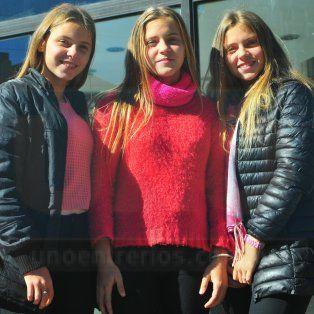 Luciana, Lucía y Luisina, en ese orden nacieron y también se acomodaron para la foto