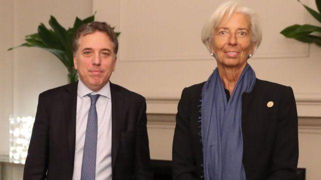 La visita de Lagarde, la titular del FMI, en fotos