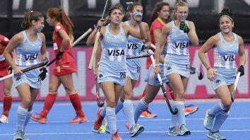 las leonas golearon a espana en el primer partido del mundial de hockey