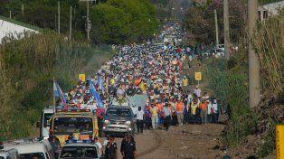 Marcha de fe. La peregrinación concluirá en el santuario de La Loma