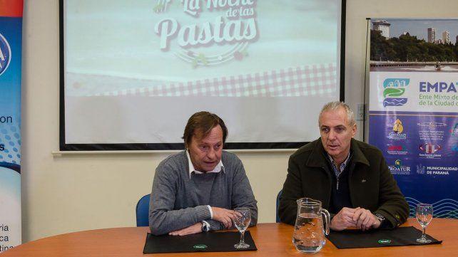 Detalles. El intendente y el titular de la Asociación Hotelera y Gastronómica explicaron la propuesta.