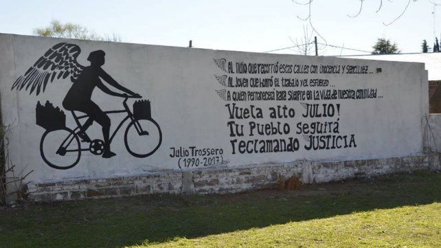 Recuerdo. En Seguí pintaron un mural del lechero del pueblo.
