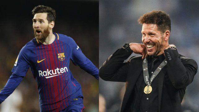 Simeone y Messi fueron nominados a The Best