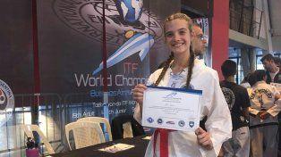 Karen Lell, la entrerriana que estará en el Mundial de Taekwondo