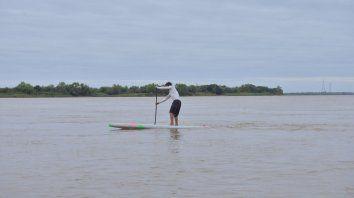 Francisco entrenando en el invierno de Paraná.