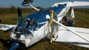 No llegó. El Cessna 182 iba a Paraguay para el transporte de droga