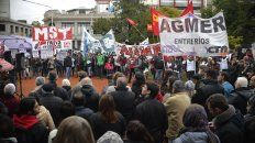 Repudio. En la plaza 1° de Mayo se leyeron documentos de diversas organizaciones.