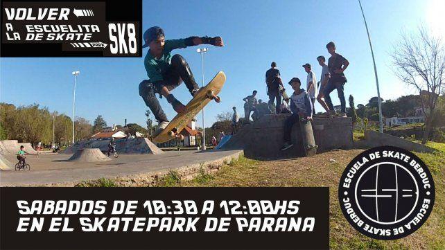 Las escuelas de skate en Entre Ríos activan los sábados