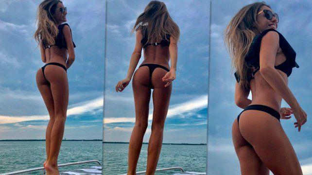 Las sensuales fotos de Pampita disfrutando de las playas de Miami