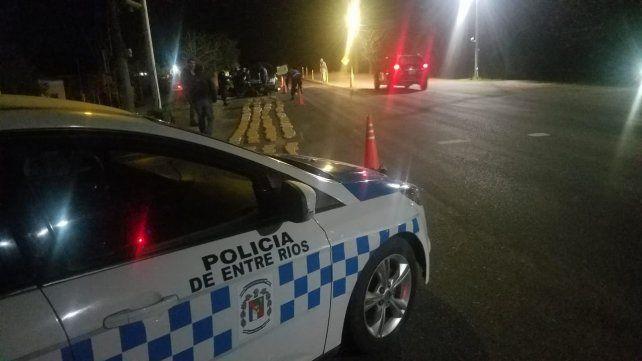 La policía de Entre Ríos en Paso Telégrafo.