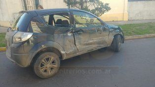 Encontronazo. La colisión ocurrió en Ferré y Andrés Pasos de Paraná.