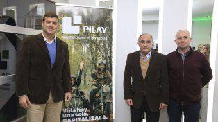 Presentes. Asistieron el nuevo CEO de Pilay Luciano Morad; el Presidente Javier Vigo Leguizamón; y el Jefe de Obra Alejandro Fenés.