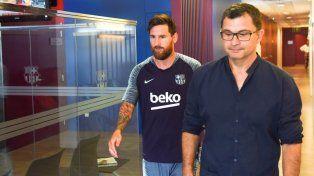 El delantero argentino llegó este martes a las instalaciones de su club.