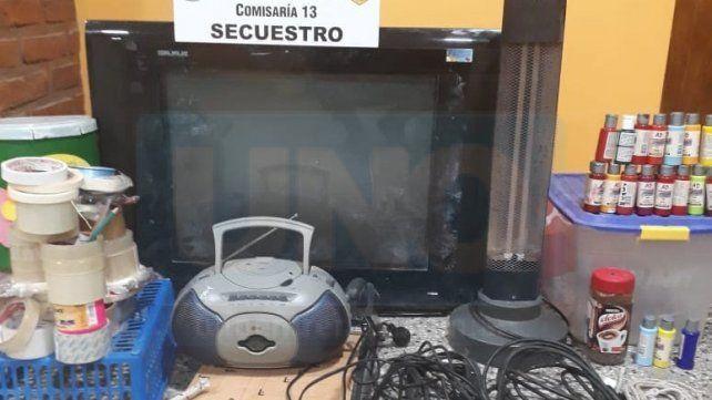 Recuperan algunos de los elementos robados de la escuela Maestro Entrerriano