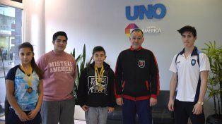 Con medallas. Los representantes y sus logros en una actividad que contó con 600 atletas de todo el país.