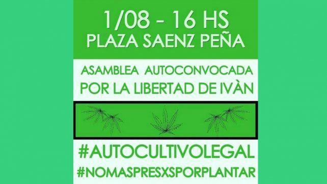 Asamblea y protesta por la detención de dos cultivadores de cannabis medicinal