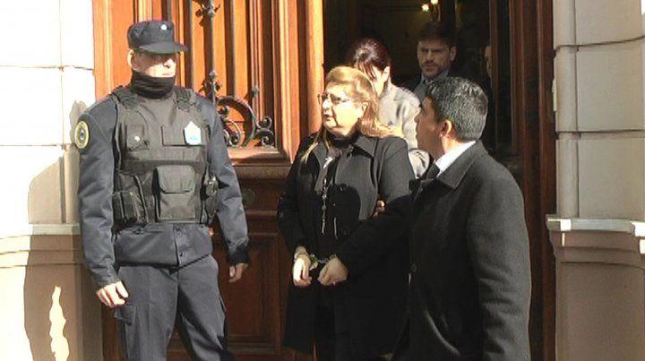 El día que Bordeira fue procesada y quedó detenida.