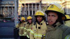 bomberos voluntarios de todo el pais abrazan el congreso contra el ajuste y el desfinanciamiento