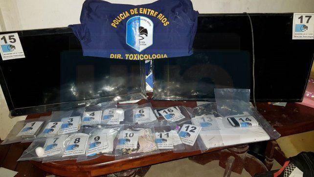 Narcomenudeo: Tres detenidos en allanamientos realizados en barrios de Paraná