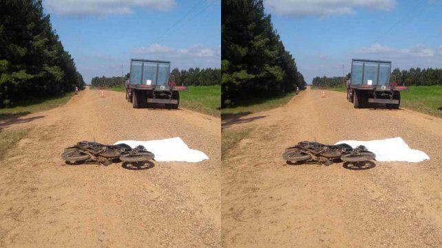 Un joven motociclista murió tras una colisión con un camión