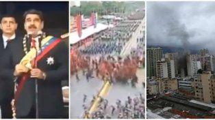Triple pantalla: Nicolás Maduro