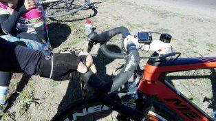 Un tremendo susto para el campeón argentino de ciclismo