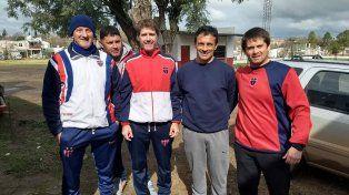 El equipo. Hernán Orcellet junto a sus compañeros de cuerpo técnico del Depro.